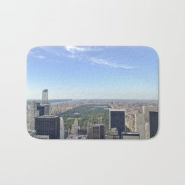 Central Park view from Rockefeller Center's rooftop Bath Mat
