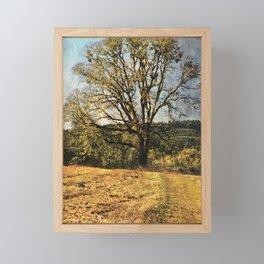 White Oak Framed Mini Art Print