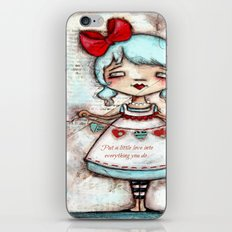 Made with Love - Heart String Tugger iPhone & iPod Skin