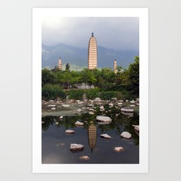Three Pagodas of Dali - China Art Print