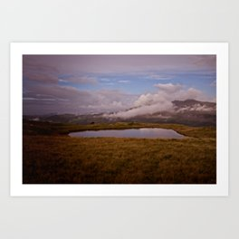 Llyn y Cefn Art Print
