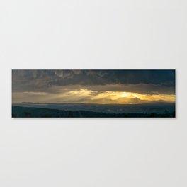 Sunset on Campidano Canvas Print