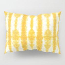 Yellow Tiki Shibori Pillow Sham