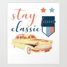 Oldtimer Car Gift Vehicle Classic Vintage Art Print