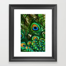 Eye of the Peacock Framed Art Print