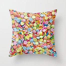 Mix of Candies Throw Pillow
