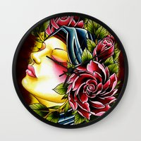 gypsy Wall Clocks featuring Gypsy by Voss fineart
