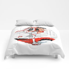 "Yoga girl Cool Noodle and ""Fire Red"" Comforters"