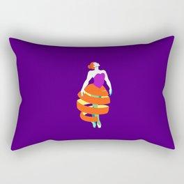 Orange peel ballerina dance Rectangular Pillow