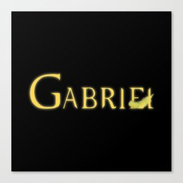 Gabriel with Feather Canvas Print