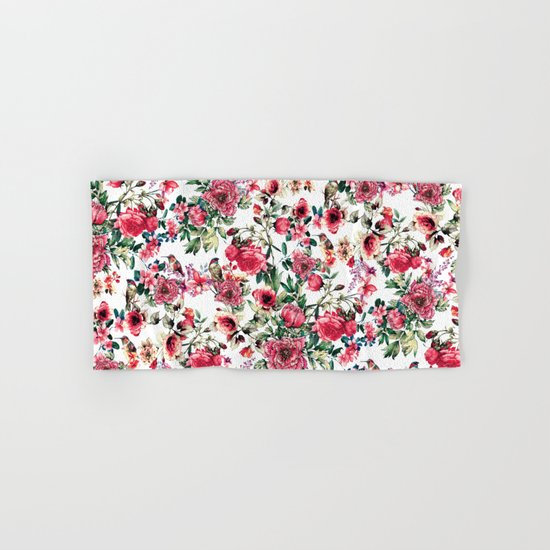 Flowers & Birds III Hand & Bath Towel