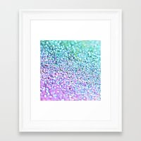 the little mermaid Framed Art Prints featuring Little Mermaid by Monika Strigel
