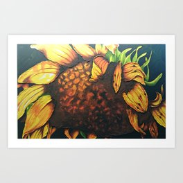 Sunflower Painting in Acrylic Art Print