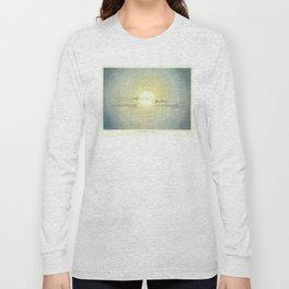 Vintage Solar System Orbital Diagram (1846) Long Sleeve T-shirt