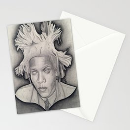 """""""Immortalizing in Stone"""" Jean-Michel Basquiat Drawing Stationery Cards"""