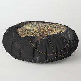 Ammonite Trilobite Fibonacci Spiral Floor Pillow