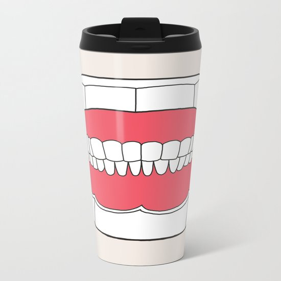 Uzual Teeth Metal Travel Mug