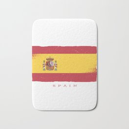 SPAIN GRUNGE FLAG Bath Mat