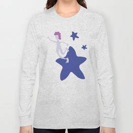 Reach for the Stars - Blue Long Sleeve T-shirt