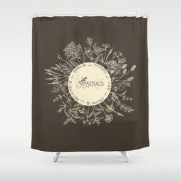 Dear Sassenach in Sepia Shower Curtain