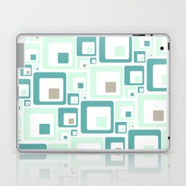 Retro Squares Mid Century Modern Background Laptop & iPad Skin