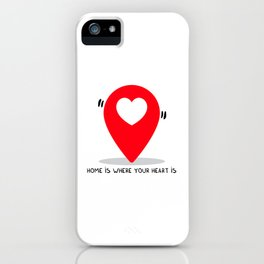 Home is where your heart is iPhone Case