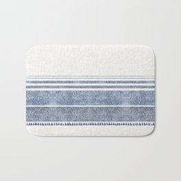 FRENCH LINEN CHAMBRAY TASSEL Bath Mat