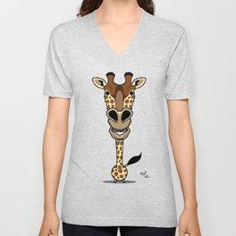bobble giraffe Unisex V-Neck