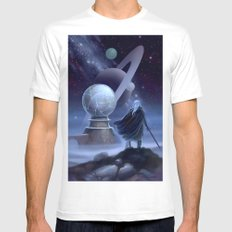 The Temple at the End of Time White MEDIUM Mens Fitted Tee