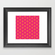 Orange Diamond Framed Art Print