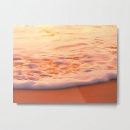 Ocean foam on beach - Beer of the Sea   Dewey Beach, DE Metal Print