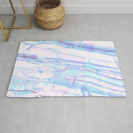Pastel Marble with Blue Green Purple Rug
