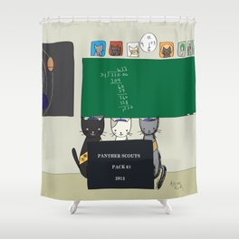 Panther Scouts #1 Cover Shower Curtain