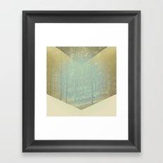 Chevron Forest Framed Art Print