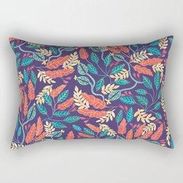 Indigo & Burnt Sienna Rectangular Pillow