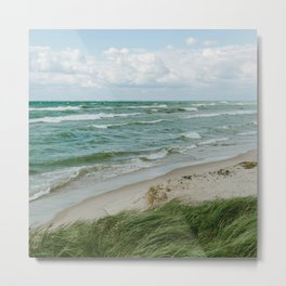 Windy Day on Lake Michigan Metal Print