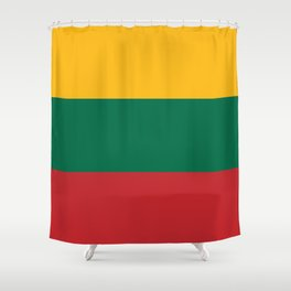 Flag: Lithuania Shower Curtain