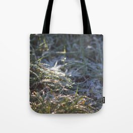 Frosty Underfoot Tote Bag