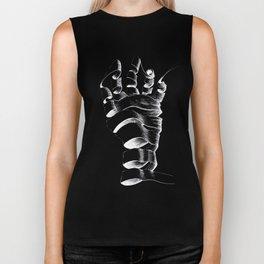 Hand inspired by Escher - White Biker Tank