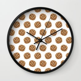Chocolate Chip Cookies Pattern Wall Clock