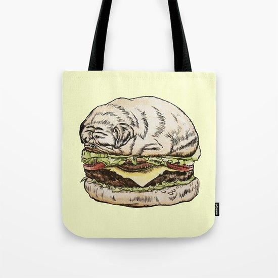 Pug Burger Tote Bag