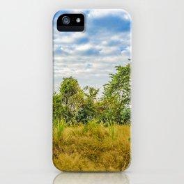 Meadow Tropical Landscape Scene, Guayaquil, Ecuador iPhone Case
