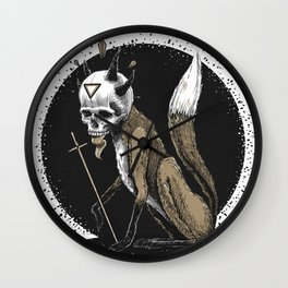 Kitsune Demon Fox Wall Clock