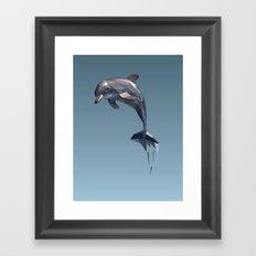 Geometric Dolphin Framed Art Print