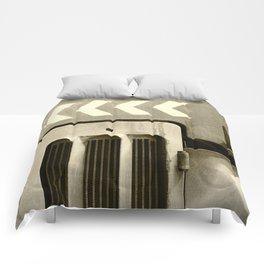 Road Roller Chevron 05 - Industrial Abstract Comforters