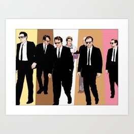 "Reservoir Dogs ""Walking"" (color) Art Print"