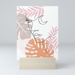 Jungle Line Girl Mini Art Print