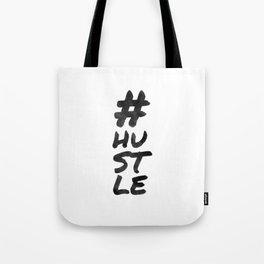 Hashtag hustle / minimalist design / typography Tote Bag