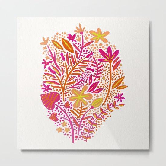 Garden – Citrus Palette Metal Print