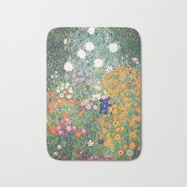 Gustav Klimt Flower Garden Bath Mat